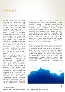 Yellow and Blue Painting Word Template First Inner Page