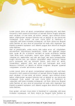 Yellow and Blue Painting Word Template Second Inner Page