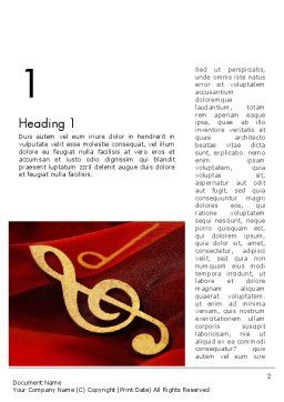 Music Note Word Template First Inner Page