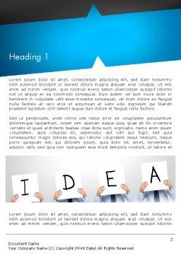 Presenting an Idea Word Template, First Inner Page, 13165, Business Concepts — PoweredTemplate.com