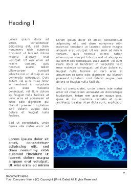 Abstract Blue Clockwork Word Template, First Inner Page, 13167, Business Concepts — PoweredTemplate.com