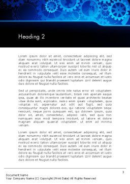Abstract Blue Clockwork Word Template, Second Inner Page, 13167, Business Concepts — PoweredTemplate.com