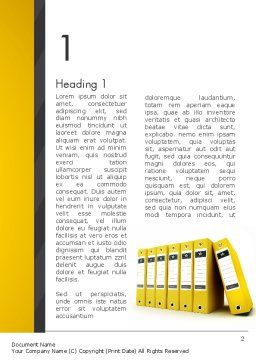 Yellow Binders Word Template, First Inner Page, 13168, Business — PoweredTemplate.com