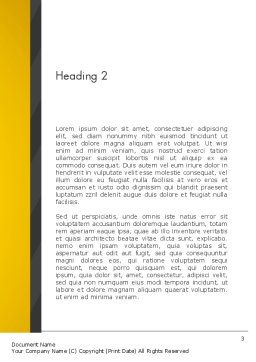 Yellow Binders Word Template, Second Inner Page, 13168, Business — PoweredTemplate.com