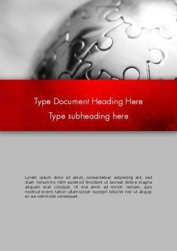 Business Service Word Template, Cover Page, 13169, Business — PoweredTemplate.com