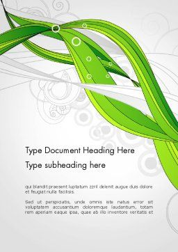 Underwater Green Sprout Abstract Word Template Cover Page