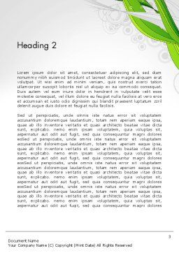 Underwater Green Sprout Abstract Word Template Second Inner Page