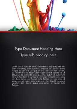 Color Drops Word Template Cover Page