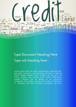 Credit Word Cloud Word Template, Cover Page, 13176, Financial/Accounting — PoweredTemplate.com