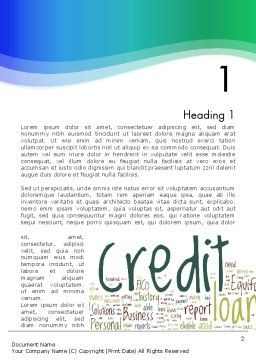 Credit Word Cloud Word Template, First Inner Page, 13176, Financial/Accounting — PoweredTemplate.com