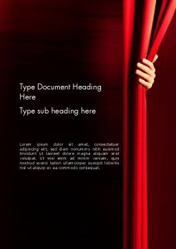 Behind the Curtain Word Template Cover Page