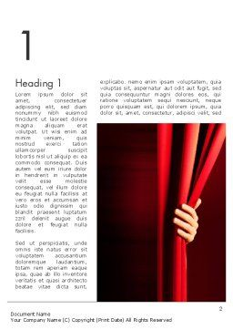 Behind the Curtain Word Template First Inner Page
