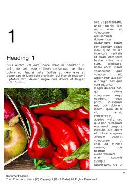 Healthy Diet Plan Word Template, First Inner Page, 13181, Food & Beverage — PoweredTemplate.com
