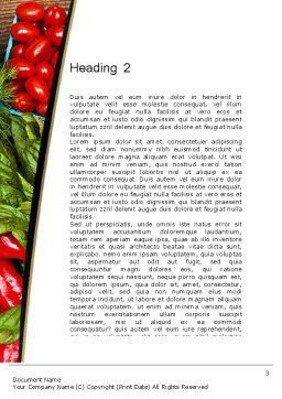 Healthy Diet Plan Word Template, Second Inner Page, 13181, Food & Beverage — PoweredTemplate.com
