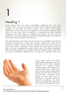 Child Outstretched Hand Word Template First Inner Page