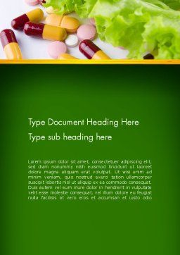 Food Supplements Word Template, Cover Page, 13191, Food & Beverage — PoweredTemplate.com