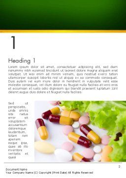 Food Supplements Word Template, First Inner Page, 13191, Food & Beverage — PoweredTemplate.com