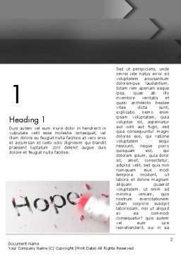 Losing Hope Word Template First Inner Page