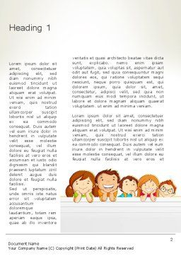 Back to School with Kids Word Template, First Inner Page, 13195, Education & Training — PoweredTemplate.com