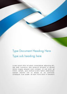 Twisted Striped Layers Abstract Word Template, Cover Page, 13196, 3D — PoweredTemplate.com