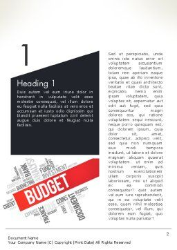 Budget Word Cloud Word Template, First Inner Page, 13197, Financial/Accounting — PoweredTemplate.com