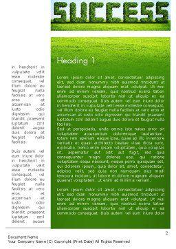 Green Grass Word Success Word Template, First Inner Page, 13198, Business Concepts — PoweredTemplate.com