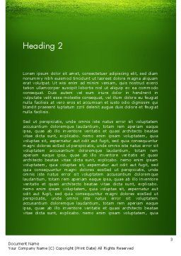 Green Grass Word Success Word Template Second Inner Page