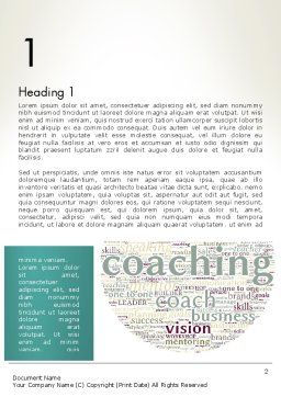 Business Communication Coach Word Template, First Inner Page, 13201, Education & Training — PoweredTemplate.com