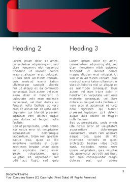 Bookmark Word Template Second Inner Page