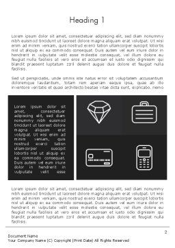 White Icons Word template, First Inner Page, 13206, Careers/Industry — PoweredTemplate.com