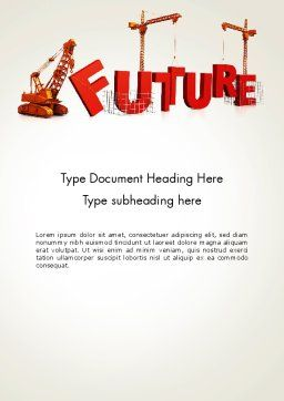 Making Future Word Template, Cover Page, 13208, Education & Training — PoweredTemplate.com