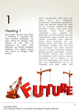 Making Future Word Template, First Inner Page, 13208, Education & Training — PoweredTemplate.com