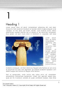 Ionic Column on Sky Word Template, First Inner Page, 13209, Art & Entertainment — PoweredTemplate.com