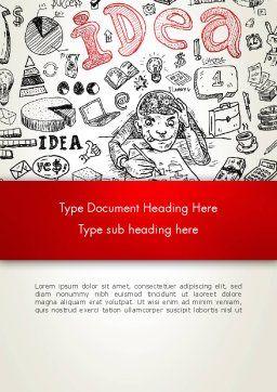 Idea Doodles Word Template, Cover Page, 13210, Business Concepts — PoweredTemplate.com