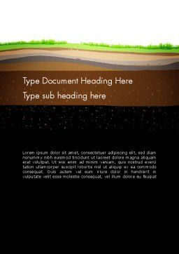 Soil Cut Word Template, Cover Page, 13213, Education & Training — PoweredTemplate.com