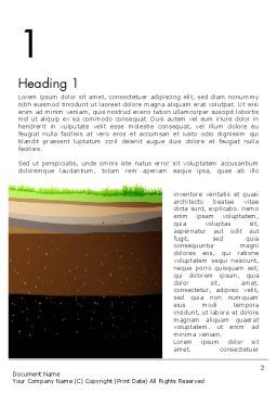 Soil Cut Word Template, First Inner Page, 13213, Education & Training — PoweredTemplate.com