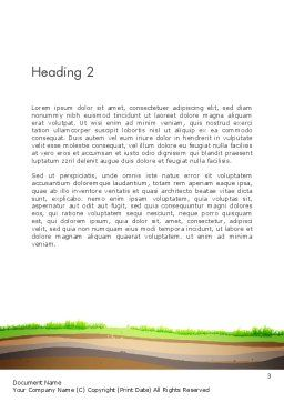 Soil Cut Word Template, Second Inner Page, 13213, Education & Training — PoweredTemplate.com