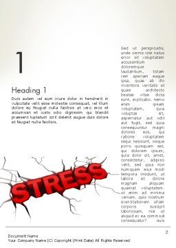 Heavy Stress Word Template First Inner Page