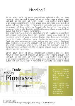 Trade Money Finances Word Template First Inner Page