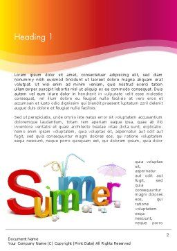 3D Summer Party Word Template, First Inner Page, 13223, Holiday/Special Occasion — PoweredTemplate.com