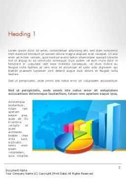 Bar and Pie Charts on Word Map Word Template, First Inner Page, 13224, Business — PoweredTemplate.com