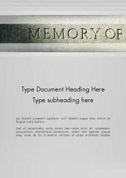 In Memory Of Word Template, Cover Page, 13225, Religious/Spiritual — PoweredTemplate.com