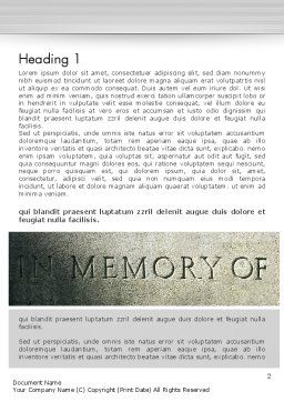 In Memory Of Word Template, First Inner Page, 13225, Religious/Spiritual — PoweredTemplate.com