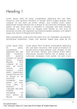 Turquoise Clouds Word Template, First Inner Page, 13226, Nature & Environment — PoweredTemplate.com
