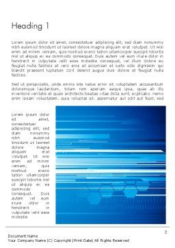 Abstract Digital Stream Word Template, First Inner Page, 13227, Telecommunication — PoweredTemplate.com
