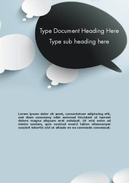Opposing Speech Bubbles Word Template Cover Page