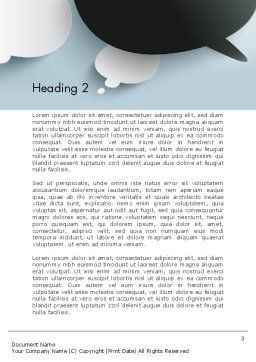 Opposing Speech Bubbles Word Template Second Inner Page
