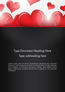 Valentines Day Love Word Template, Cover Page, 13234, Holiday/Special Occasion — PoweredTemplate.com