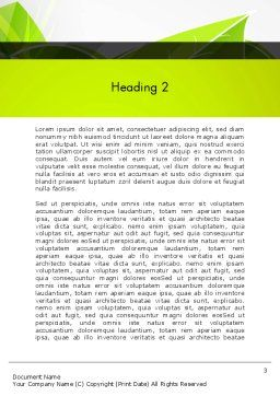 Green Neon Leaves Word Template Second Inner Page