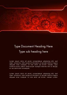 Inside Red Clock Word Template, Cover Page, 13236, Business Concepts — PoweredTemplate.com